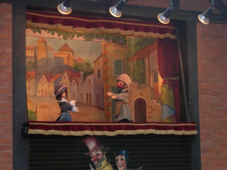 Théâtre de Guignol no Parque de la Tête d'Or em Lyon
